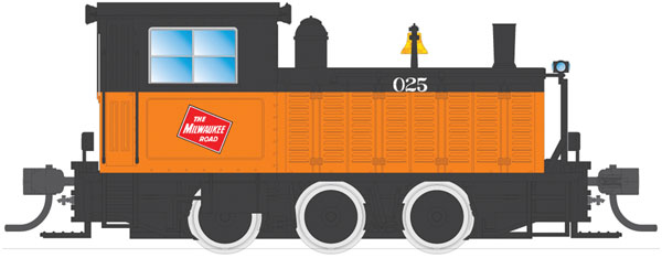 plymouth wlg 8 35 ton switcher milwaukee road by broadway limited imports. Black Bedroom Furniture Sets. Home Design Ideas