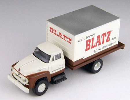 1954 Ford F 700 Blatz Beer Delivery Truck With Figure By