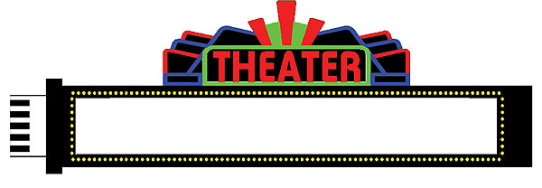 animated neon medium theatre sign by miller engineering