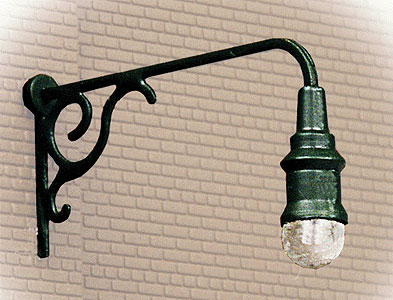 Wall Mounted Street Lamps : Working Street Lamps Ornate Wall Mounted Lamp (3 Pack) by Walthers @ dallasmodelworks.com