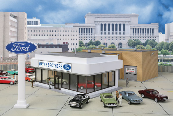 Wayne Bros Ford Dealership By Walthers Dallasmodelworks Com