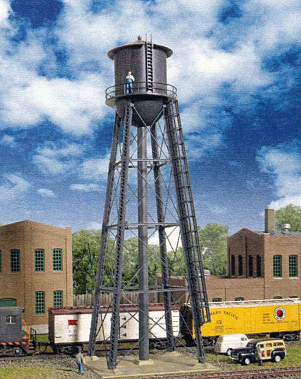 N Scale Walthers Cornerstone N Scale City Water Tower Black Kit 933-3832