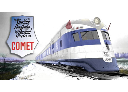 New Haven Comet 3 Car Streamlined Train 1935 Scheme New