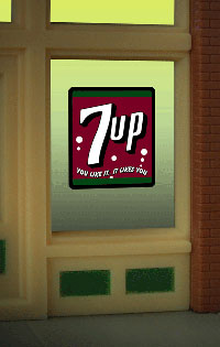 Animated Neon Window Sign 7UP by Miller Engineering